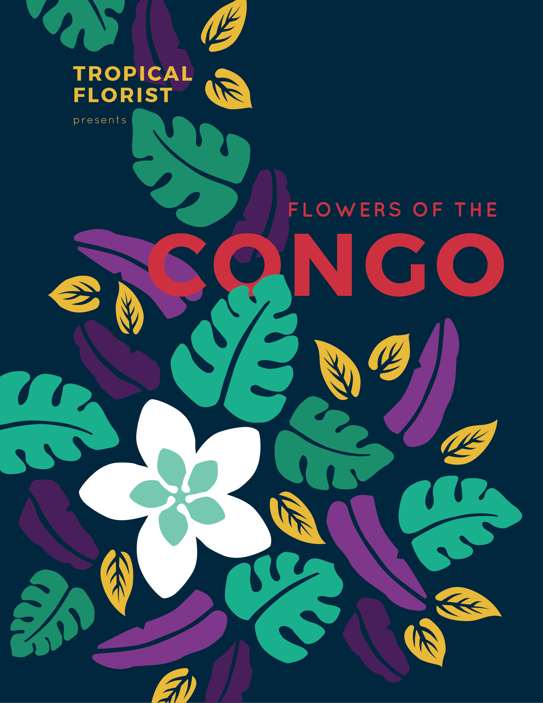 The final poster I landed on emphasizes the Plumeria as the icon of the brand and emotes the deep, mysterious, and beautiful foliage of the tropics.